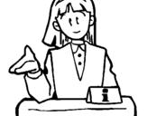 Dibujo de Chica de información para colorear