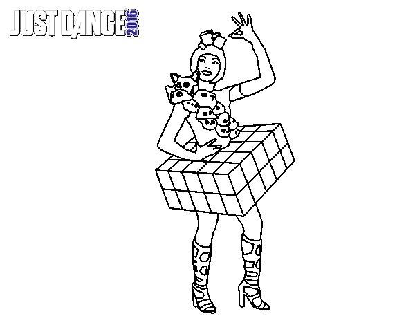 Dibujo de Chica Just Dance para Colorear