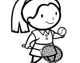 Dibujo de Chica tenista