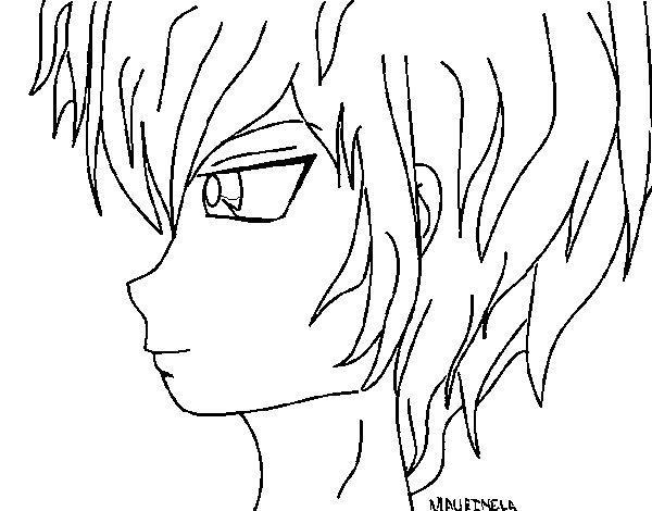 Dibujo de Chico anime 2 para Colorear  Dibujosnet
