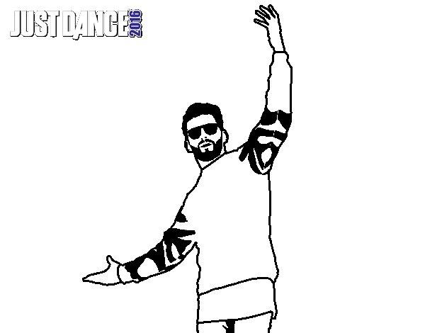 Dibujo de Chico Just Dance para Colorear