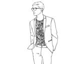 Dibujo de Chico moderno para colorear