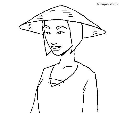 Dibujo de China 2 para Colorear