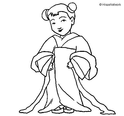 Dibujo de Chinita para Colorear