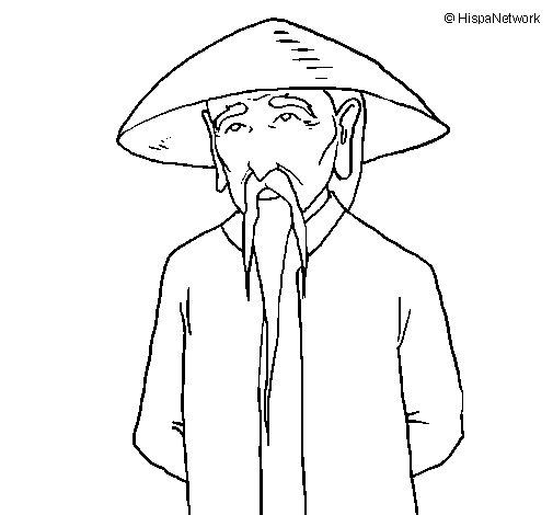 Dibujo de Chino para Colorear