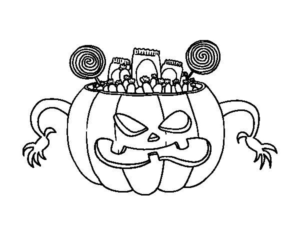 Dibujo de Chuches de Halloween para Colorear