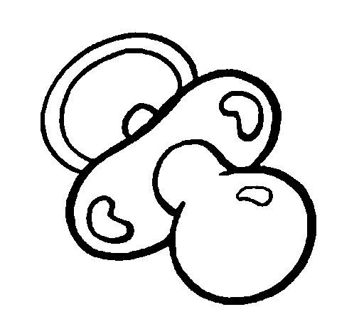 Dibujo de Chupete para Colorear