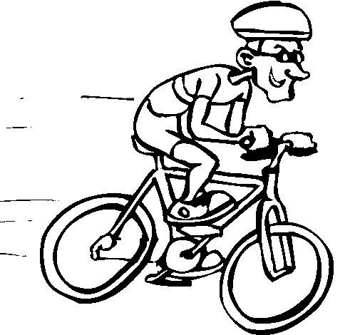Dibujo de Ciclismo 1 para Colorear