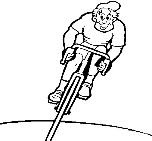 Dibujo de ciclista con gorra para colorear - Coloriage de cycliste ...