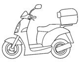 Dibujo de Ciclomotor para colorear