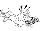 Dibujo de Cigüeña con pasatiempos para colorear