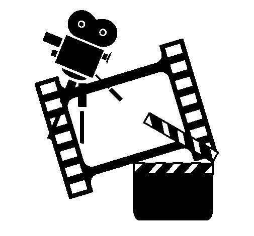 Dibujo de Cine para Colorear  Dibujosnet