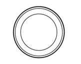 Dibujo de Circulación prohibida para colorear