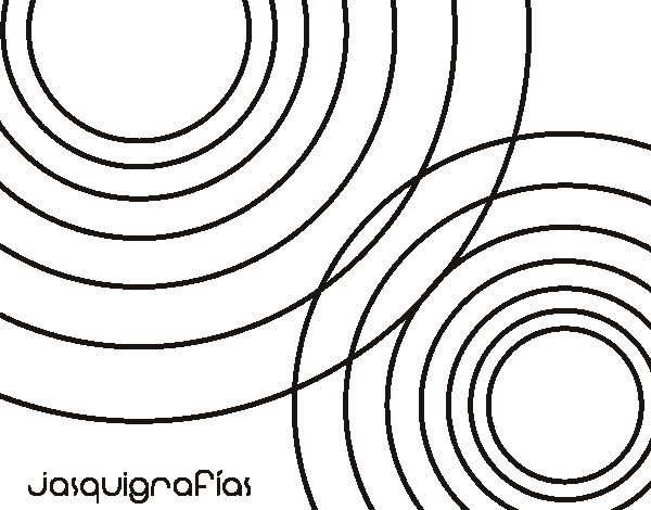 Dibujo de Círculos juntos para Colorear