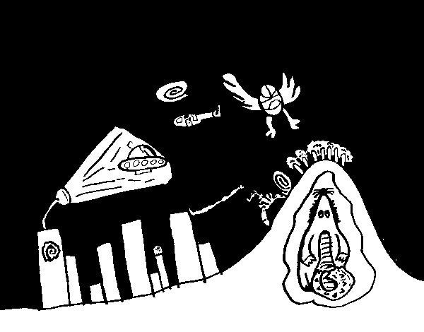 Dibujo de Ciudad invadida para Colorear