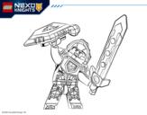 Dibujo de Clay lider de los Nexo Knights para colorear