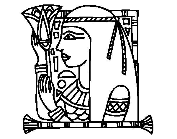 Dibujo de Cleopatra para Colorear