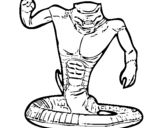 Dibujo de Cobra para colorear