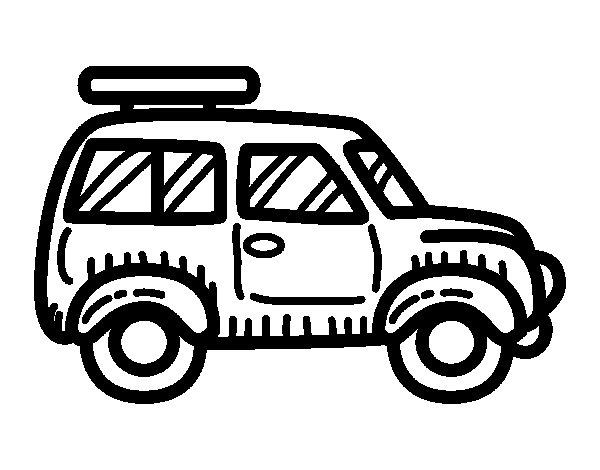Dibujo de Coche con baca para Colorear  Dibujosnet