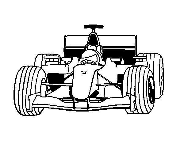 Dibujo de Coche de F1 para Colorear - Dibujos.net