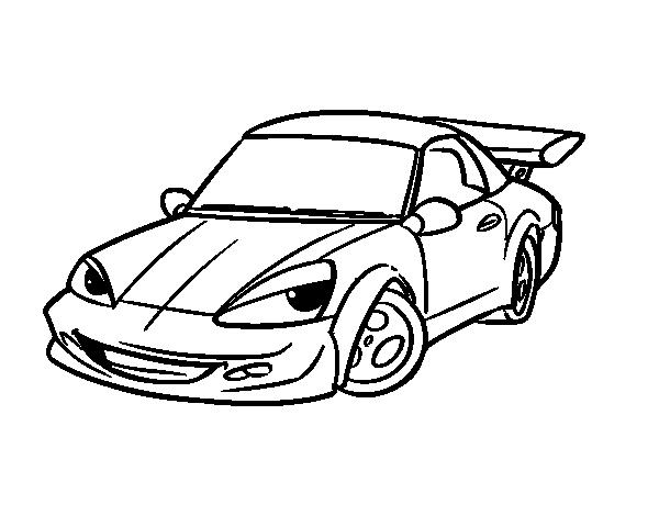Dibujo de coche deportivo con aler n para colorear - Empapelar coche para pintar ...