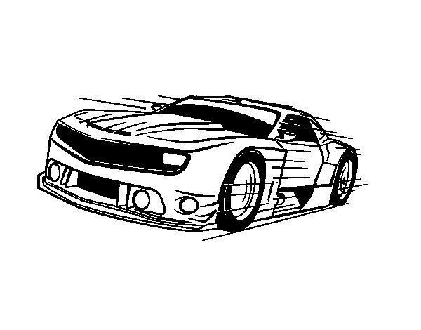 Dibujo de coche deportivo r pido para colorear - Empapelar coche para pintar ...