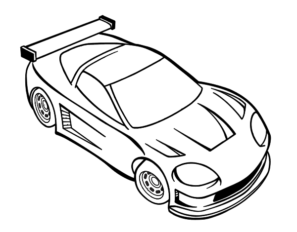 Dibujo de Coche moderno para Colorear  Dibujosnet
