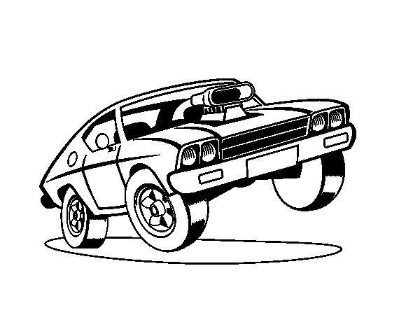 Worksheet. Dibujo de Coche muscle car para Colorear  Dibujosnet
