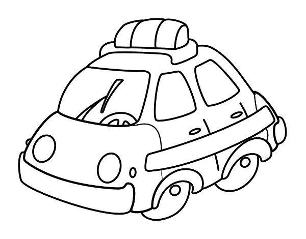 Dibujo de Coche patrulla para Colorear