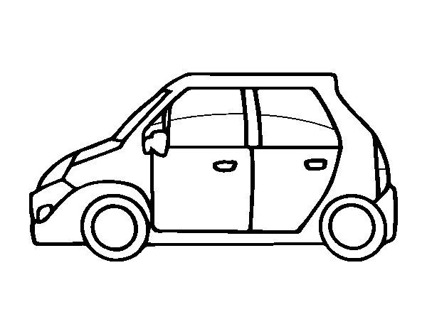 Dibujo de coche utilitario para colorear - Empapelar coche para pintar ...