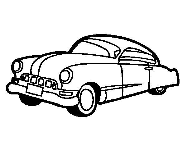 Dibujo de coche viejo para colorear - Empapelar coche para pintar ...