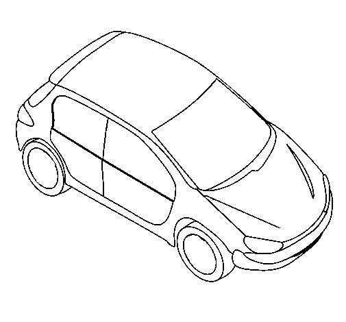 Dibujo de Coche visto desde arriba para Colorear  Dibujosnet