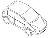 Dibujo de Coche visto desde arriba para colorear