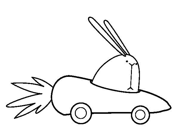 Dibujo de Coche zanahoria para Colorear