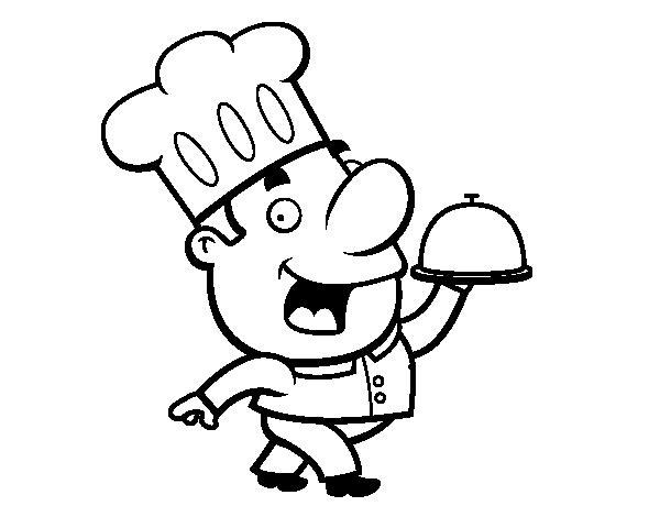 Imagenes Para Colorear Caricaturas: Chef Caricatura Para Colorear