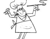 Dibujo de Cocinero II para colorear
