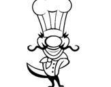 Dibujo de Cocinero IV para colorear