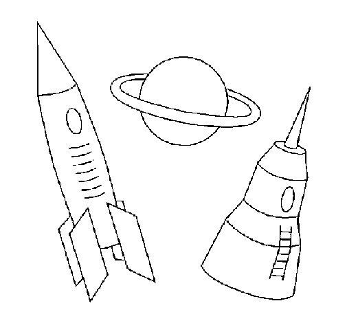Dibujo de Cohete para Colorear