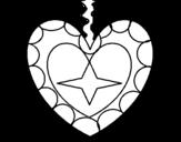Dibujo de Colgante corazon para colorear
