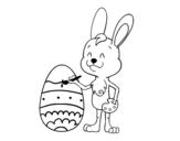 Dibujo de Colorear huevo de Pascua para colorear