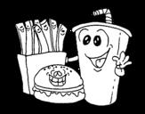 Dibujo de Comida rápida para colorear