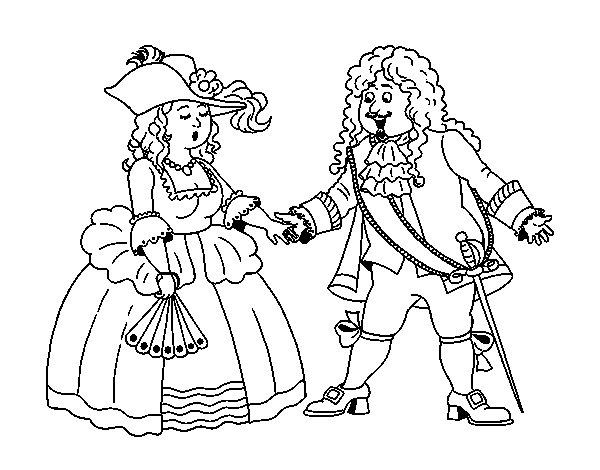 Dibujo de Conde y condesa para Colorear