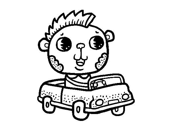 Dibujo de Conducir un descapotable para Colorear