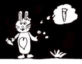 Dibujo de Conejito con zanahoria