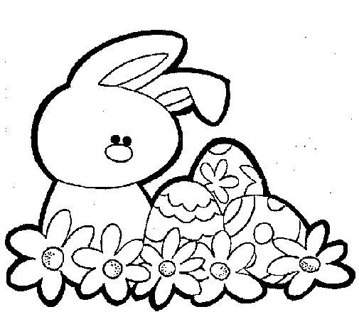 Dibujo de Conejito de pascua para Colorear  Dibujosnet