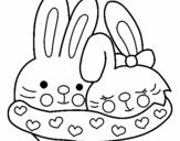 Dibujo de Conejitos enanoramdos para colorear
