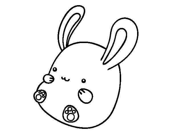 Dibujo de Conejo beb para Colorear  Dibujosnet