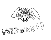 Dibujo de Conejo brujo