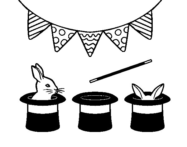 Top Hat Rabbit Coloring Pages
