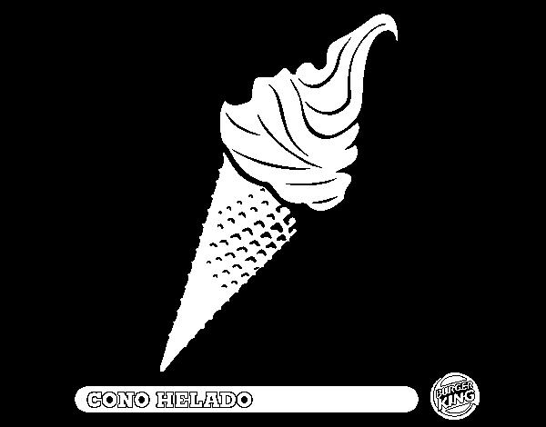 Dibujo de Cono helado para Colorear  Dibujosnet